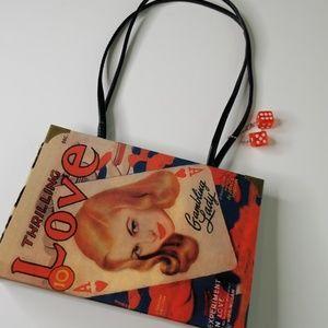 Handbags - Retro Purse 1950's Pulp Novel Handbag